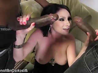 Horny whore amazing interracial scene