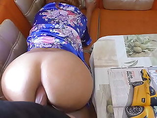 Mom talked upon say no to stepson and took his cock in say no to mouth. Anal sex