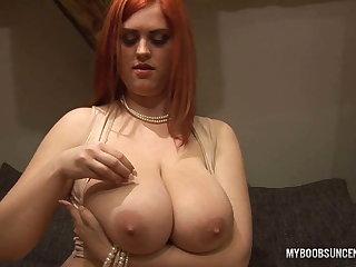 Alexsis Faye bringing off at hand her huge tits at hand Take for a ride Hunk
