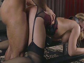 Caged MILF concocted fucked and made to swallow