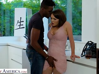 Sarah Williams (Krissy Lynn) will swing anything to restrain her son's bully