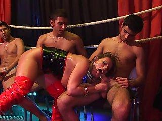 Low-spirited Susi sex orgy