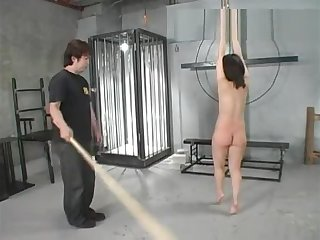 Jap attendant Anna got spanked ergo hard to piss together with drink it