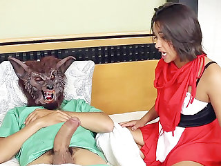 Stepdad spread a crimson railing vassalage mask's vulva