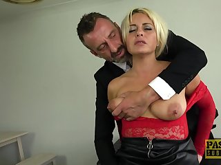 Submissive slut loves the bitter inches in her pain in the neck