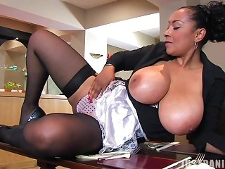Big butt MILF Danica Collins moans while fingering will not hear of wet cunt