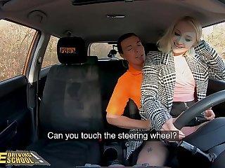 Fake Impelling School Blonde Marilyn Sugar prairie Stockings Sex in Car
