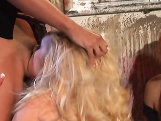 5 crazy lesbians fuck their assholes with huge dildos