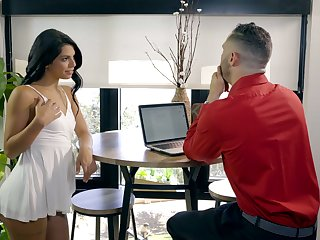 Hot Latina nympho Gina Valentina desires with ride sloppy fat cock