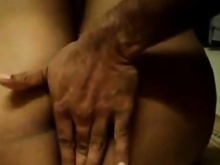 Indian girl gets her ass, tits and pussy massage