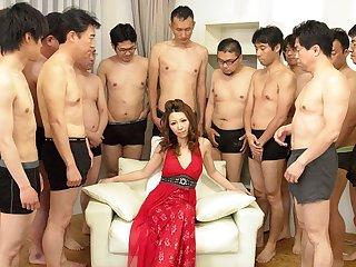 Nagisa Kazami in Nagisa Kazami is fucked by so disparate cocks in a gangbang - AvidolZ