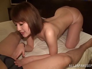 After a blowjob and a titjob hot Asian gets fucked by a gay blade
