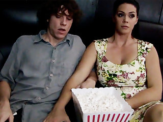 Horn-mad milf touch chary stepson's unearth in cinema