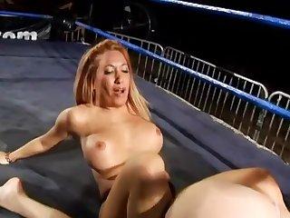 Busty Nude Wrestling