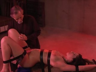 Tire Thomas derives pleasure from bondage, flogging coupled with pussy stimulation