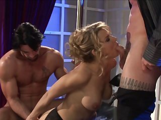Hardcore MMF threesome in the nomination with enchase Aleksa Nicole