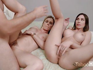 Crazy mom and their way sluty step- daughter-in-law had a 3some with 1 of the fresh neighbors
