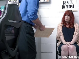 Curvaceous awl milf Amber Dawn gets punished for shoplifting